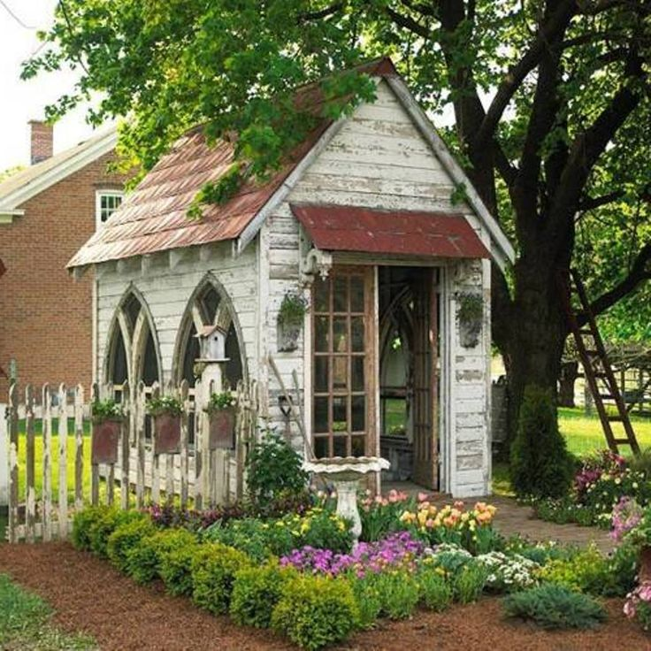 nice How To Decorating Garden Shed