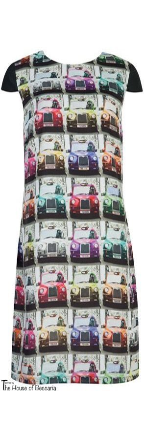~Ted Baker Nula 25th Anniversary London Taxi Cab Print Dress | The House of Beccaria
