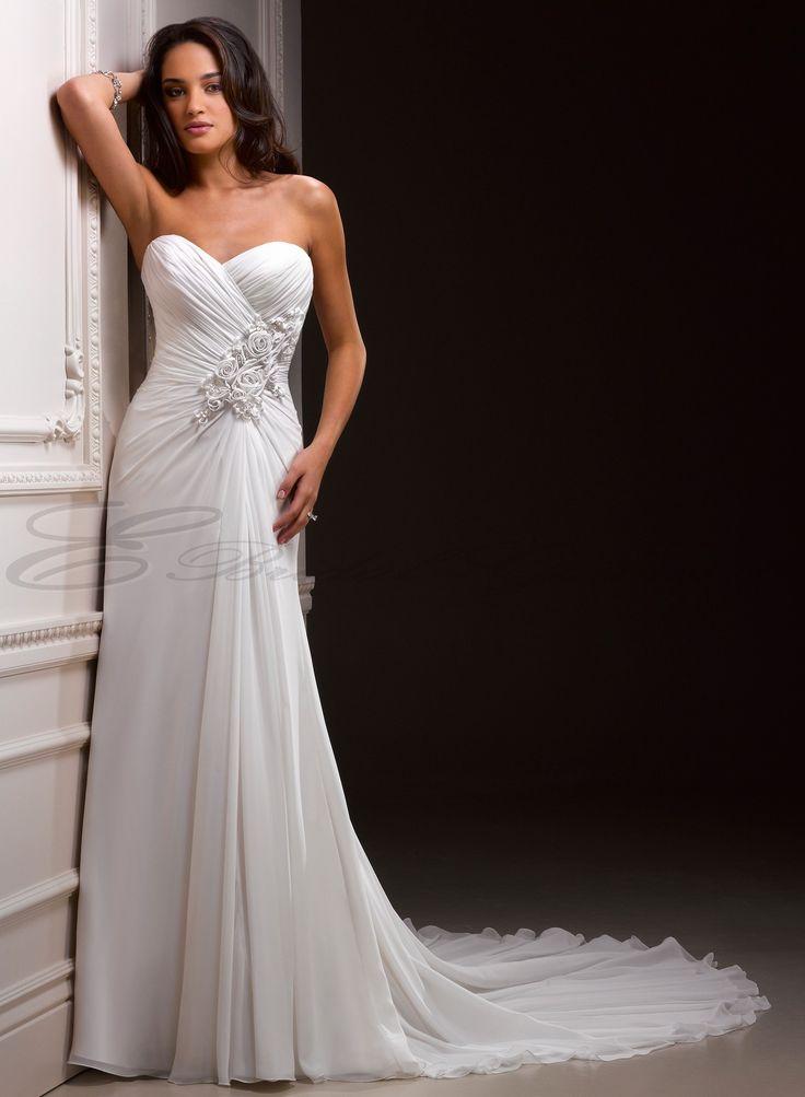... Slim A-line Sweetheart Neckline Wedding Dress - Canada Wedding Dresses