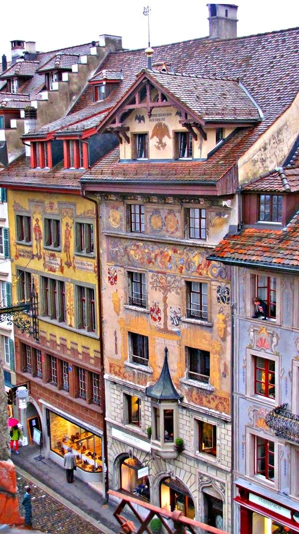 Town of Lucerne, Switzerland // Get more Swiss travel inspiration at http://www.holidaystoeurope.com.au/home/resources/destination-articles/switzerland