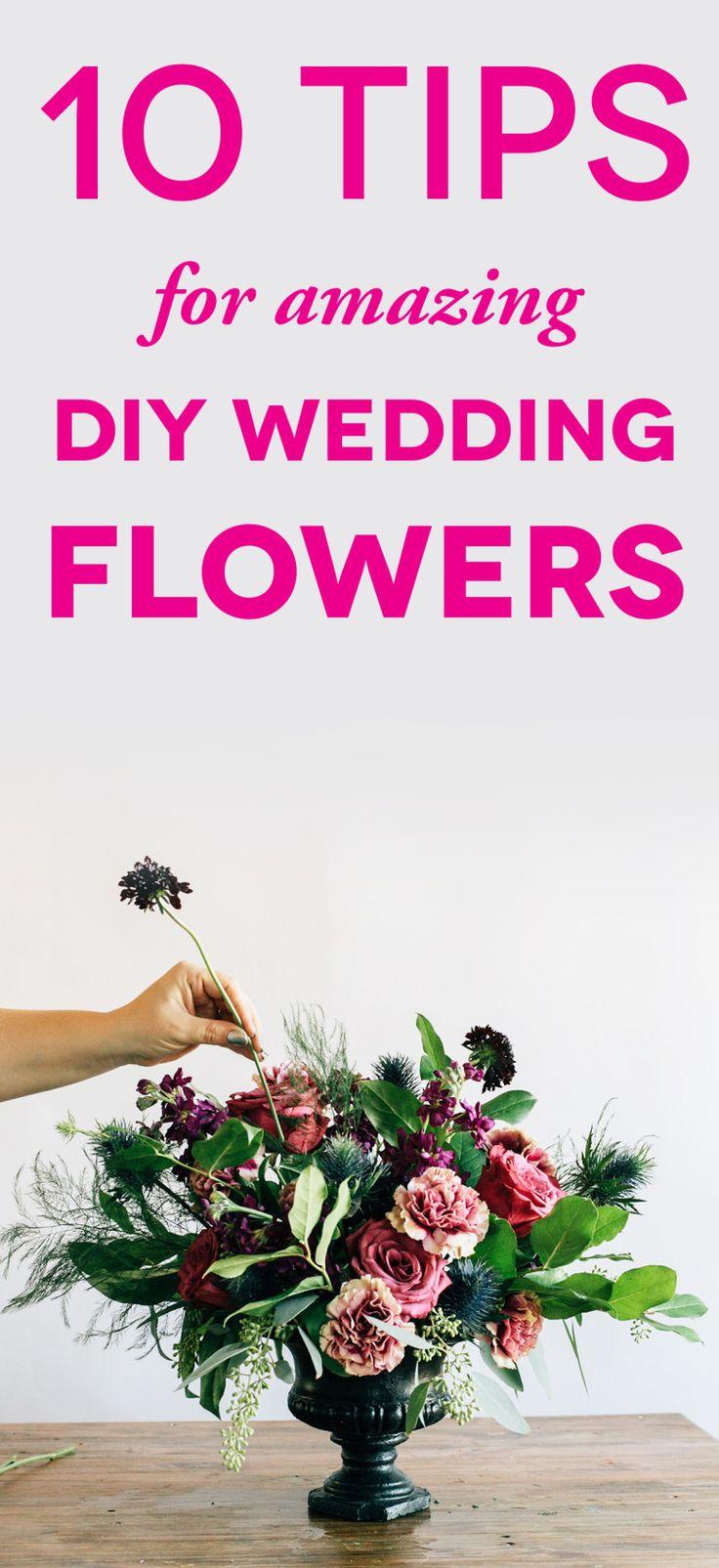 DIY Wedding Flowers: 10 Tips To Save You StressTina Lane Events