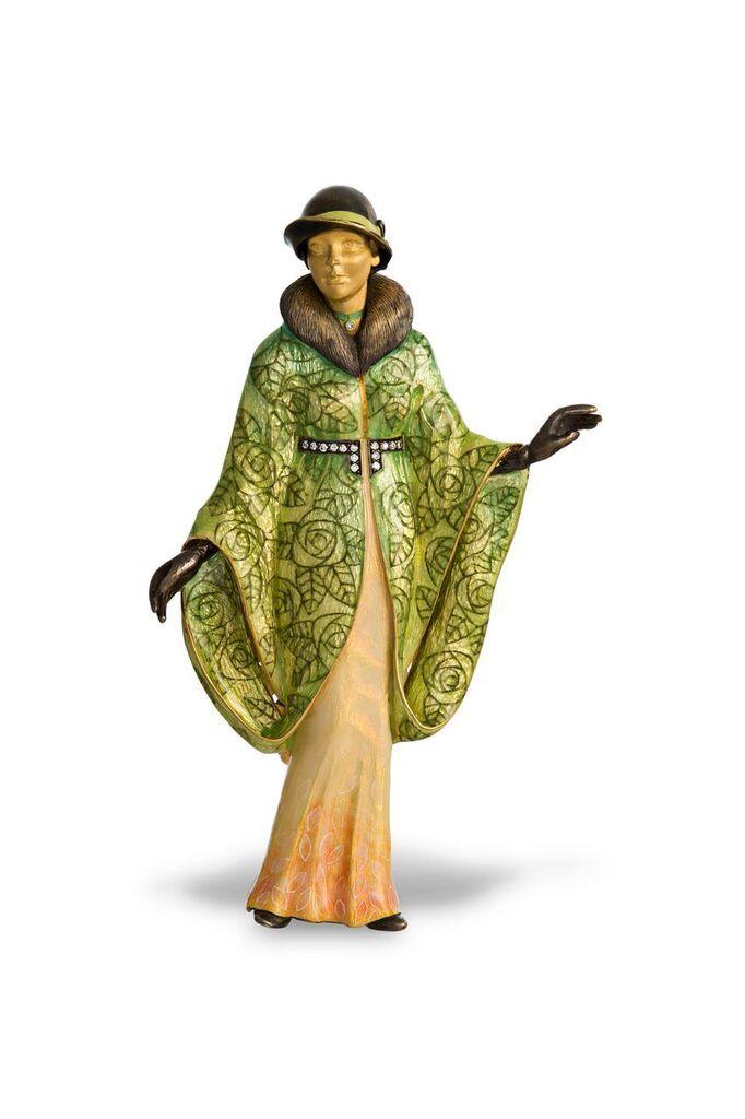 Lady in hat. Brooch. Created by russian jeweller Ilgiz F. #ilgizkremlin