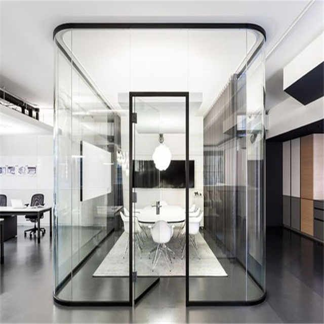 Source Plexiglass Wall Partition Soffice Glass Cube Partition Walls Cost On M Alibaba Co Office Interior Design Furniture Design Modern Corporate Office Design