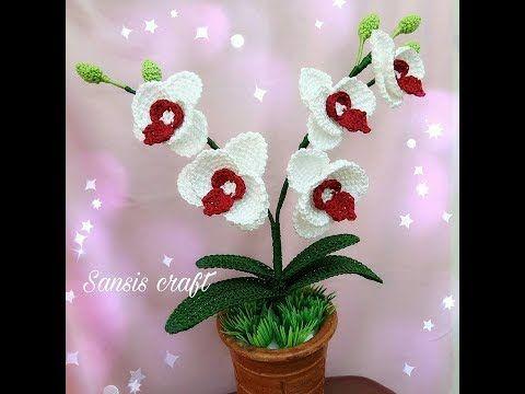 Tutorial Rajut Anggrek Bulan Mini Mini Moon Orchid Flower Part 1 Youtube Bunga Sulaman Anggrek Bunga Rajut