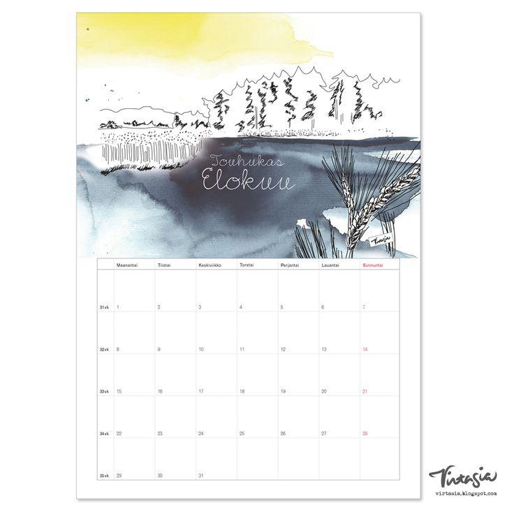 Ilmainen tulostettava elokuun 2016 seinäkalenteri #ilmainen #tulostettava #kalenteri #2016 #elokuu #free #print #calendar #august