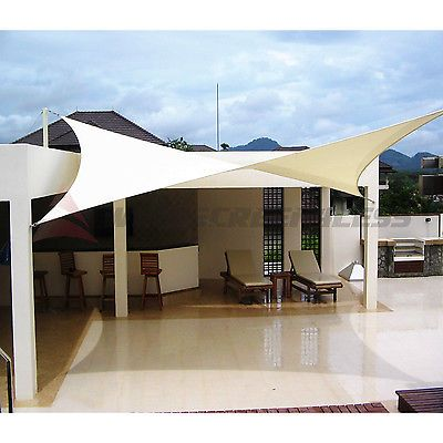 Sun Shade Sail Fabric Outdoor Canopy Patio Pool Awning Cover 12  or 16  orBest 25  Sun shade fabric ideas on Pinterest   Awnings and shade  . Outdoor Fabric Sun Shades. Home Design Ideas