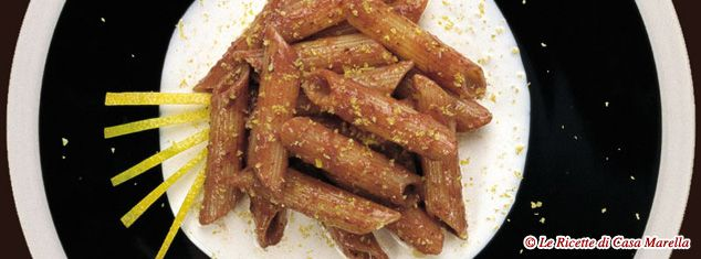 Pasta Marella Ricetta - PENNETTE RIGATE ALLA CREMA DI OLIVE NERE