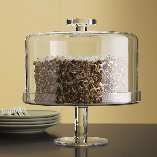 Footed Cake Stand with Dome | Crate and Barrel