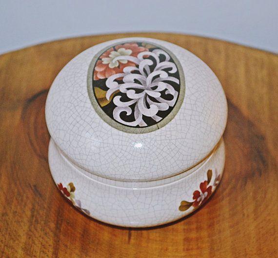 Vintage Duncan Enterprises Trinket Box Ceramic by Collectitorium
