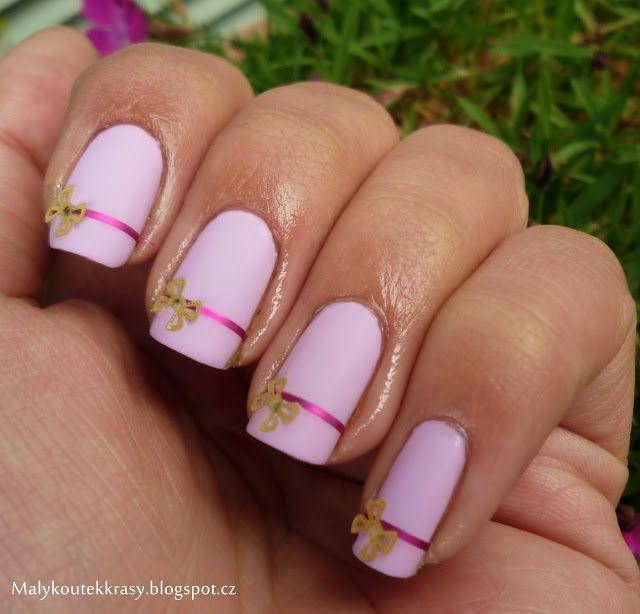 Malý koutek krásy: Mašličkový nail art :)