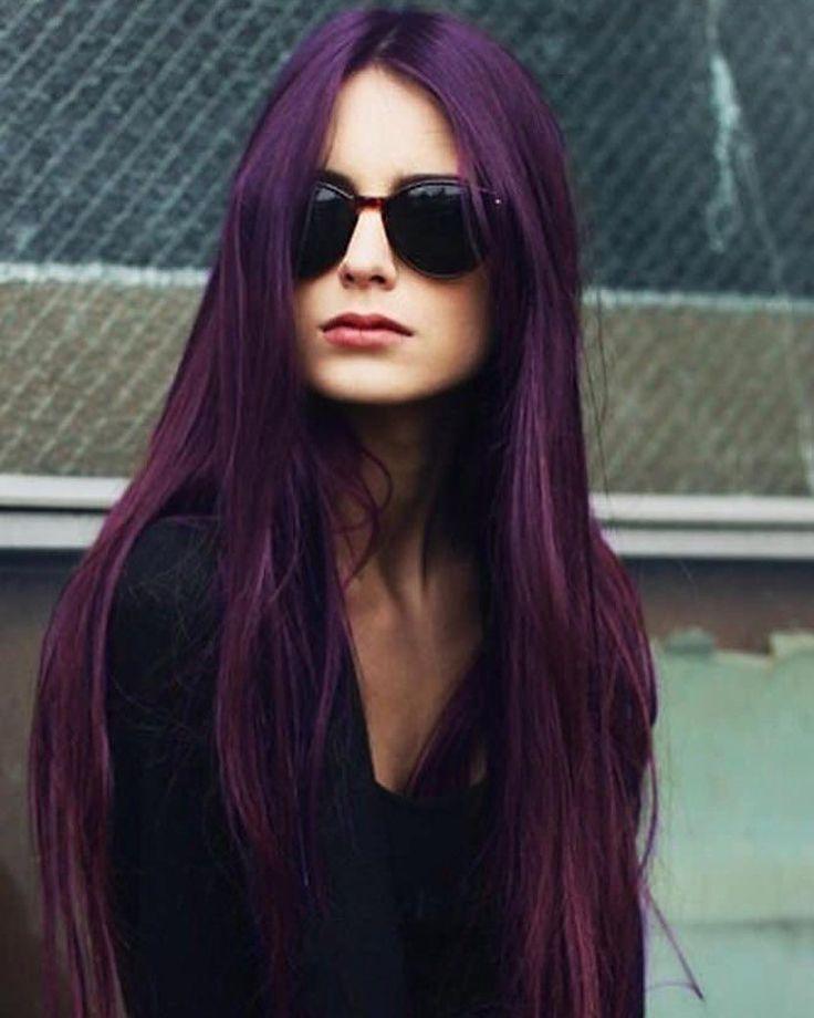 Best 25+ Dark purple hair color ideas on Pinterest   Dark purple ...