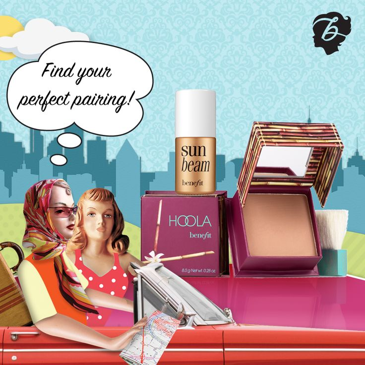 The perfect summer skin combo, but who is your ideal road trip partner? #drivenbybeauty