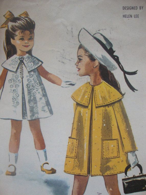 EASTER outfit vintage sewing pattern girls DRESS by LittleTicket