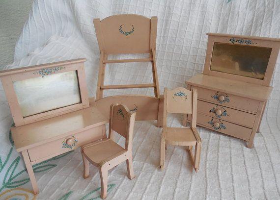 Antique Primitive Painted Child S Miniature Dresser: 282 Best Images About Antique Children's Chests And