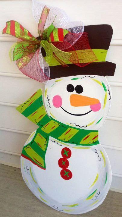Wooden Snowman for your front door