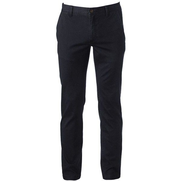 Men's Urban Pipeline Slim Straight Chino ($44) ❤ liked on Polyvore featuring men's fashion, men's clothing, men's pants, men's casual pants, men, pants, men's wear, mens pant, black and mens slim fit pants