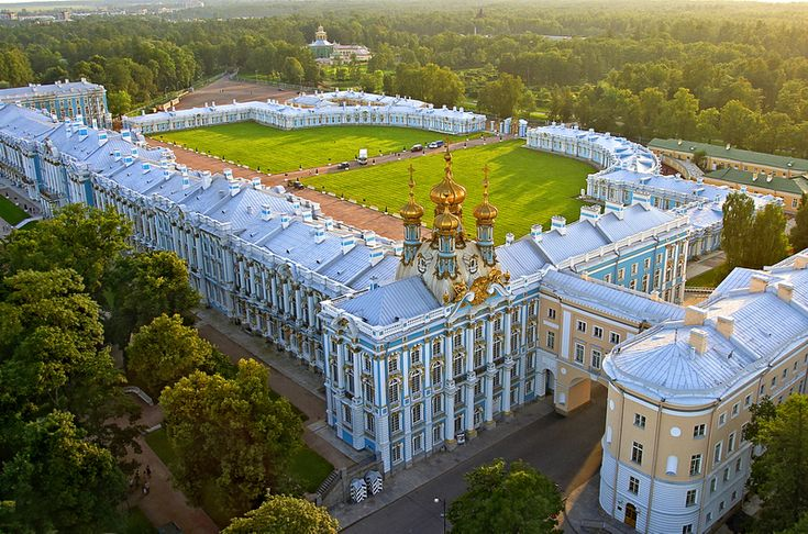 The Catherine designed by Bartolomeo Rastrelli in Tsarskoye Selo, Russia