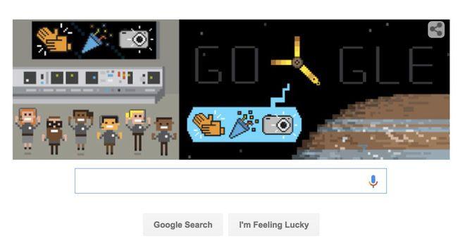 Google Doodle Celebrates Juno's Jupiter Arrival