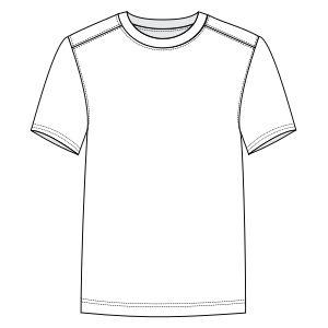 Patronaje industrial: patrones moldes ropa para Marcas Líderes Camiseta corriendo 3050 HOMBRES Remeras