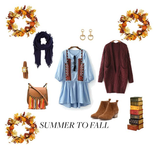 """""""SUMMER TO FALL"""" by margie-g on Polyvore featuring moda, WithChic, Gucci, Chloé i Barneys New York"""