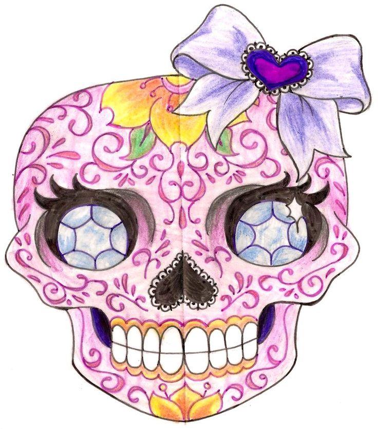 77 best sugar skulls images on Pinterest | Sugar skull, Skulls and ...