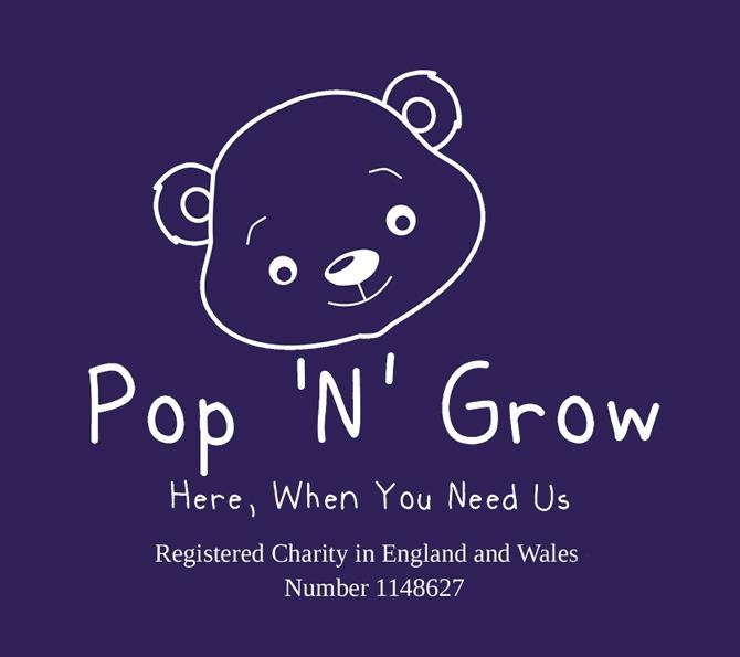 Pop 'N' Grow  Register charity Number 1148627  Pop 'n' Grow is the U.K's only neonatal clothing charity that supplys it's unique patented clothing to Neonatal units across the U.K 100% FREE.  Based on the Isle of Wight, Pop N Grow's goal is to give all 209 U.K NICU/SCBU a stock of our unique clothing, to make life just that little bit easier for babies, parents and nursing staff.