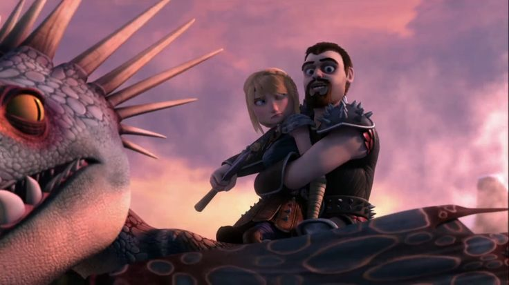 Vego holding astrid hostage to get the dragon eye from hiccup