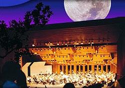 Moon over Britt Festival in Jacksonville, Oregon