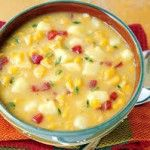 Chicken Chorizo & Corn Chowder A winter warmer with a slight spice, this will be sure to fill you up on a cold winters day!