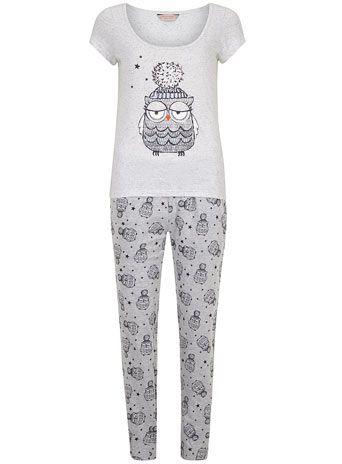 Grey owl pyjama set - Sleepwear  - Clothing