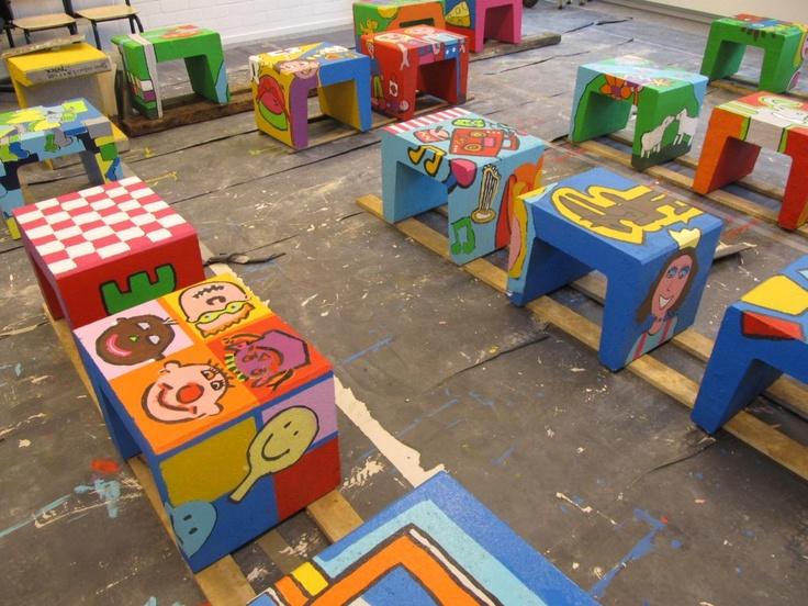 20 kletskrukken voor project op basisschool de Klingerberg 2012