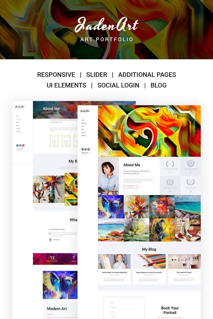 Jaden Art - Art Portfolio Joomla Template #67177