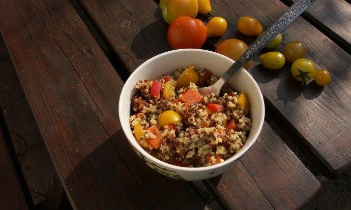 Rychlá quinoa s bulgurem z jednoho hrnce