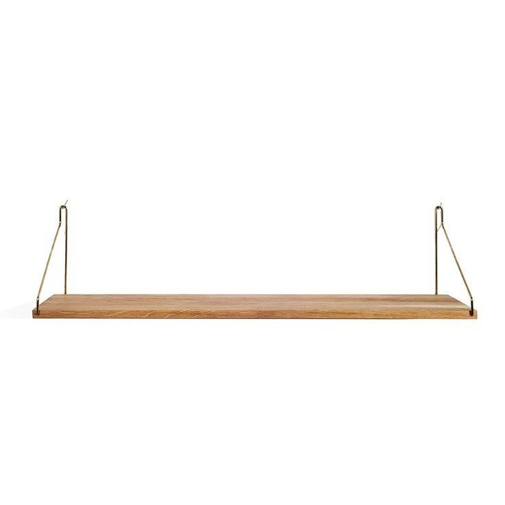 Shelf hylde fra Frama i eg og messing beslag 80 cm