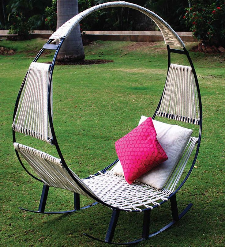 These students designed and built this hammock and rocking chair combination in two weeks