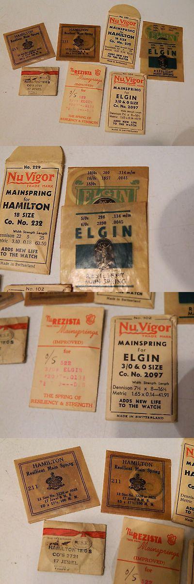 Tools and Repair Kits 117039: Watch Springs Lot Elgin Nu Vigor Hamilton Rezista 63.50 .013 17 Clock BUY IT NOW ONLY: $30.0