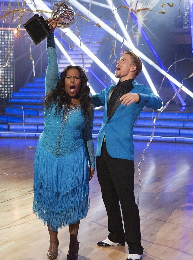 #AmberRiley Was Pure Glee As The Winner Of #DancingWithTheStars