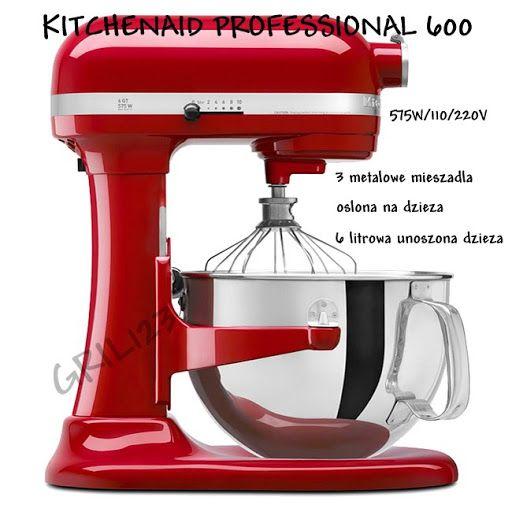 KitchenAid Professional 600 NAJNOWSZE KOLORY (3580019748) - Allegro.pl - Więcej niż aukcje.