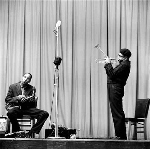 Herman Leonard | Dizzy Gillespie & Sonny Stitt, NYC, New York, 1953
