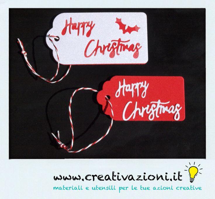 Prove tecniche natalizie...tags in gomma crepla e carta glitter ;)