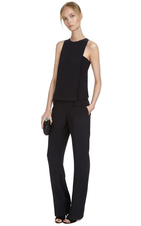 Shop Silk Layered Jumpsuit by Thakoon Addition Now Available on Moda Operandi