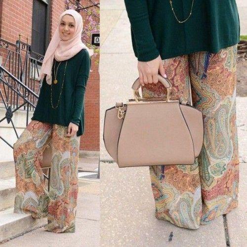 tribal palazzo pants hijab,