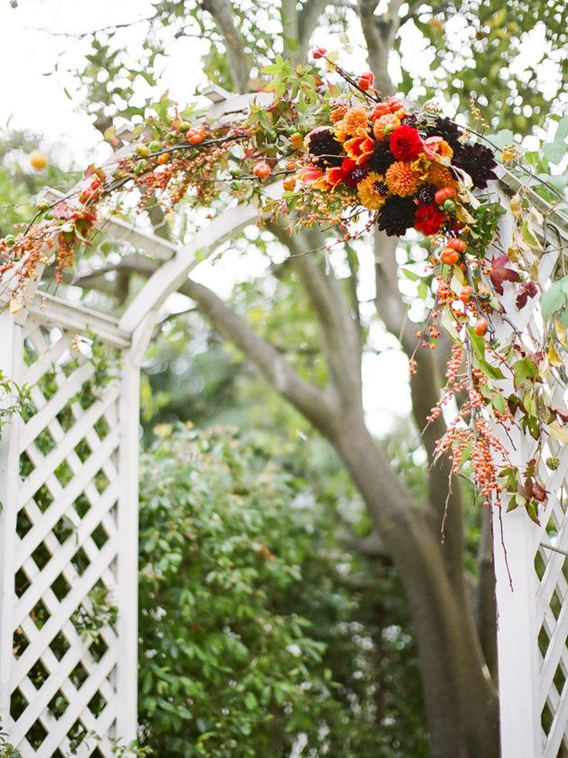 Fall Wedding Arch Floral Arrangement With How To Instructions