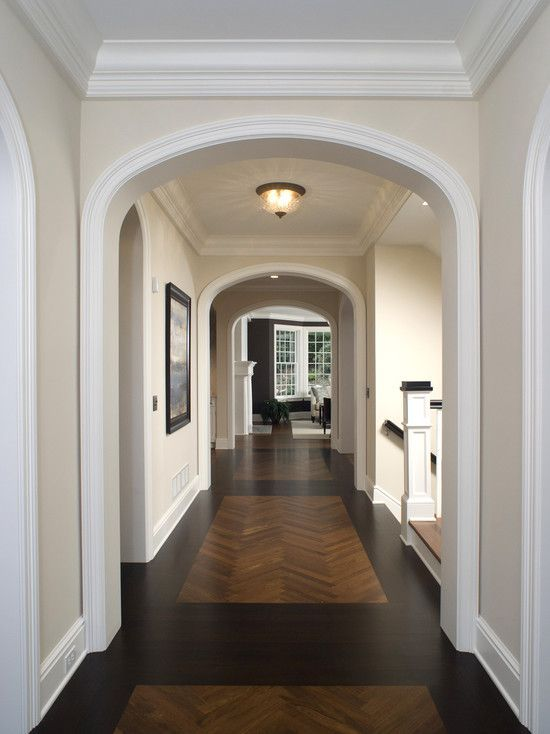 WOOD INLAYS In Floors In A Herringbone Pattern    See My New Home Design  Checklist