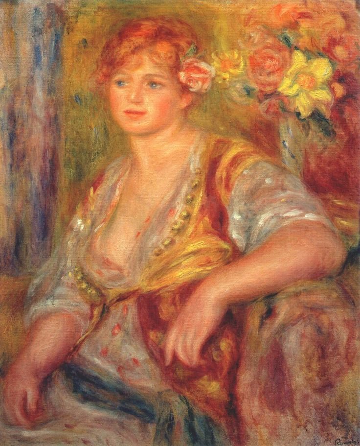 "artist-renoir: ""Dedee in spanish dress by Pierre-Auguste Renoir """