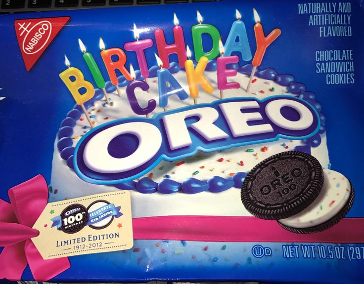 Nabisco Oreo chocolate sandwich cookies birthday cake limited edition