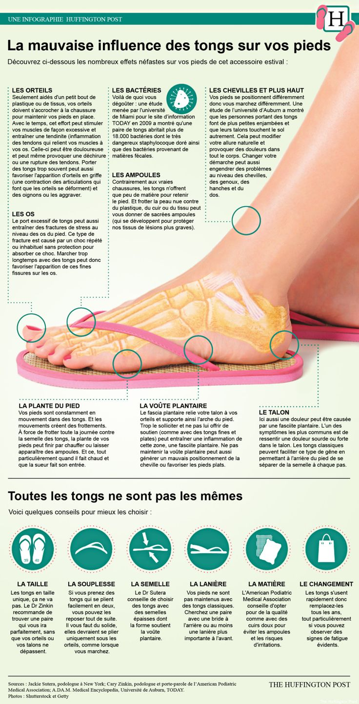 massage | mauvaise influence des tongs