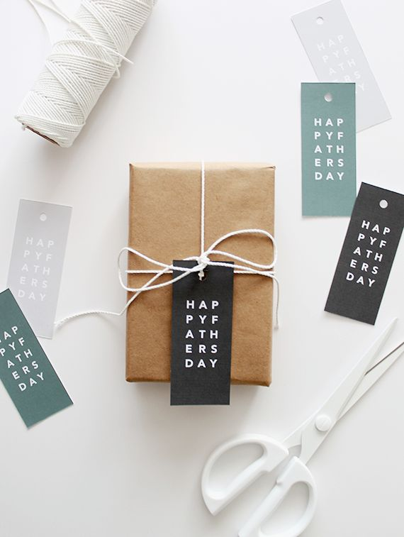 if you're not using the father's day gift wrap this year, because like - the store gift wrapped for you, i made some simple gift tags for your presents, or your six pack, or your whatever you're gi...