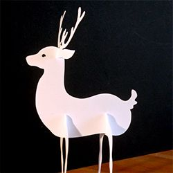Make a cute paper reindeer for your holiday decoration.