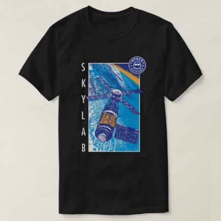 Men's Space Hipsters Skylab T-shirt (black) - click/tap to personalize and buy